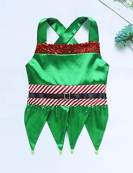 ranrann Disfraz de Campanilla para Niña Vestido Verde de ...