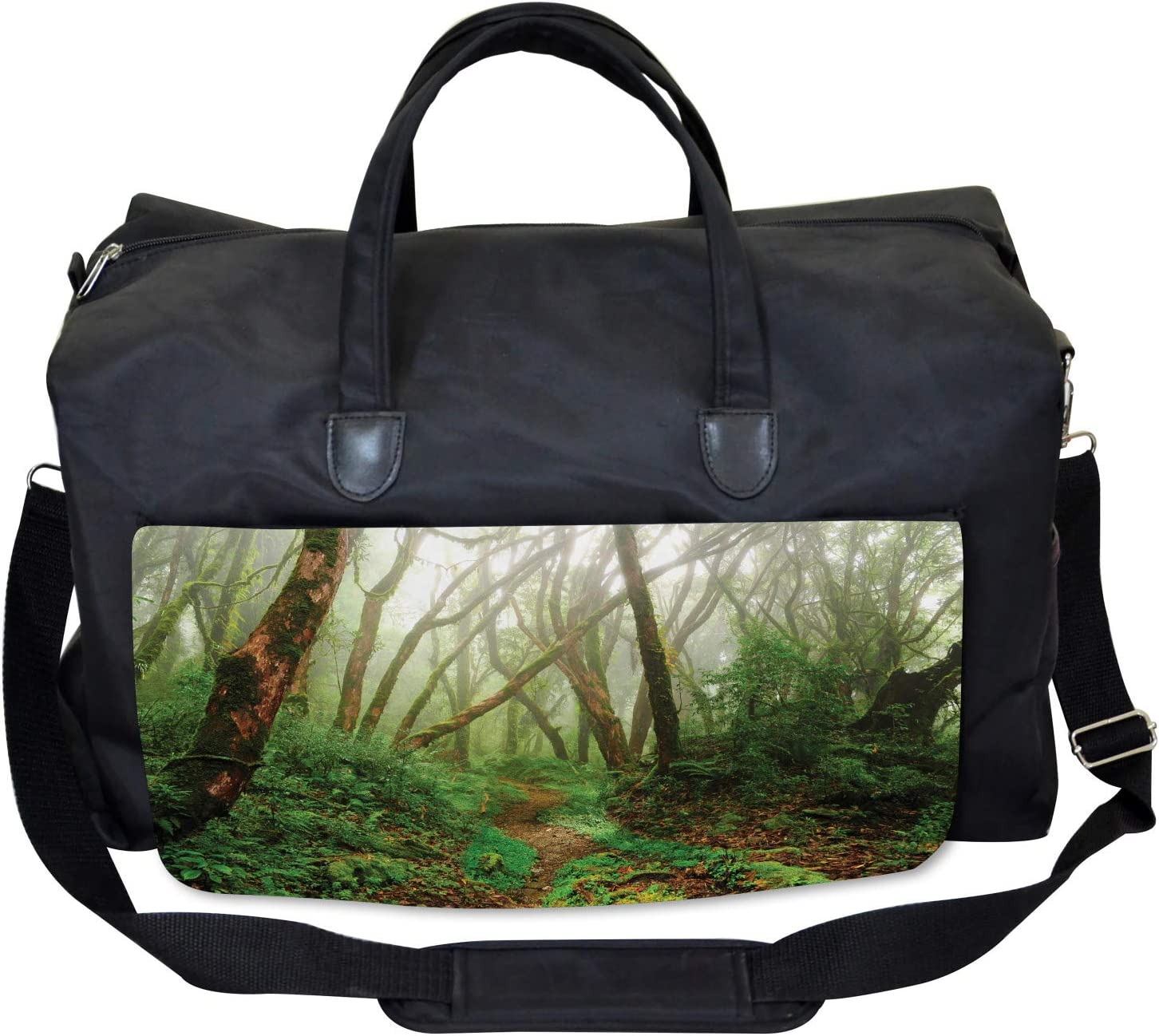 Exotic Jungle Forest Ambesonne Tropical Gym Bag Large Weekender Carry-on