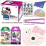 "Fujifilm Instax Mini ""Hello Kitty"" Instant Camera Set! with Instax Mini Film, Twin Pack (20 Shoots) + Hello Kitty Film (10 Shoots) + Shoulder Strap + Stickers + withC Microfiber Cleaning Cloth"