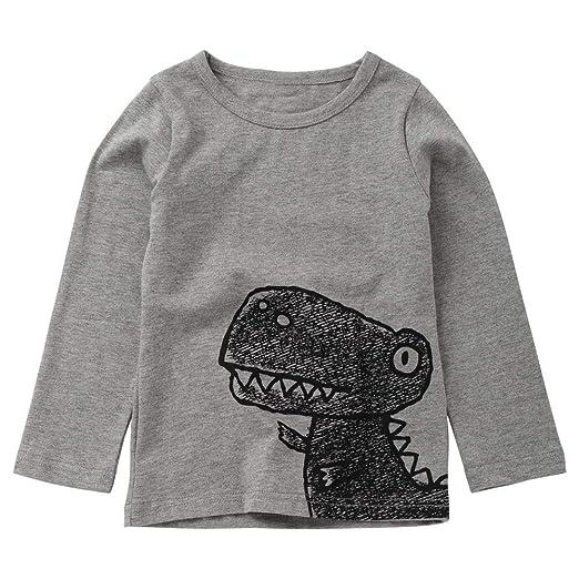 eb774979848b Amazon.com  Winsummer Toddler Baby Boys Girls Causal Long Sleeve T ...