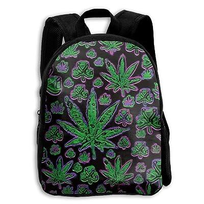 30%OFF Marijuana Weed Reto Kid Boys Girls Toddler Pre School Backpack Bags Lightweight