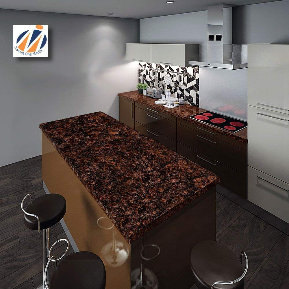 Instant Granite Chestnut Counter Top Film 36'' x 144'' Self Adhesive Vinyl Laminate Counter Top Contact Paper Faux Peel and Stick Self Application by Instant Granite (Image #3)