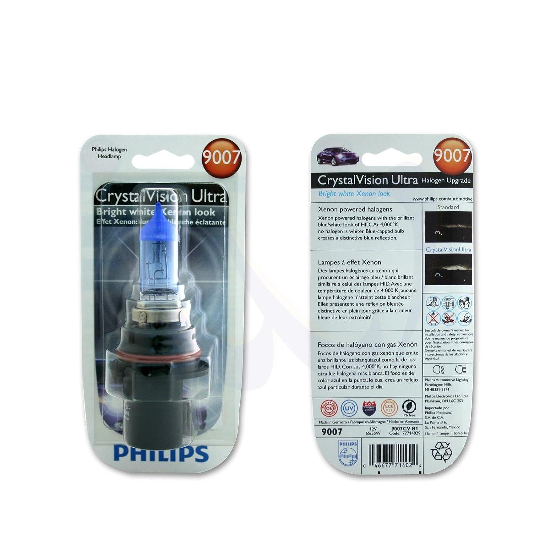 Amazon.com: 2 x PHILIPS 9007/HB5 CVB1 65/55W Crystal Vision Ultra Halogen 1 LIGHT BULB: Sports & Outdoors