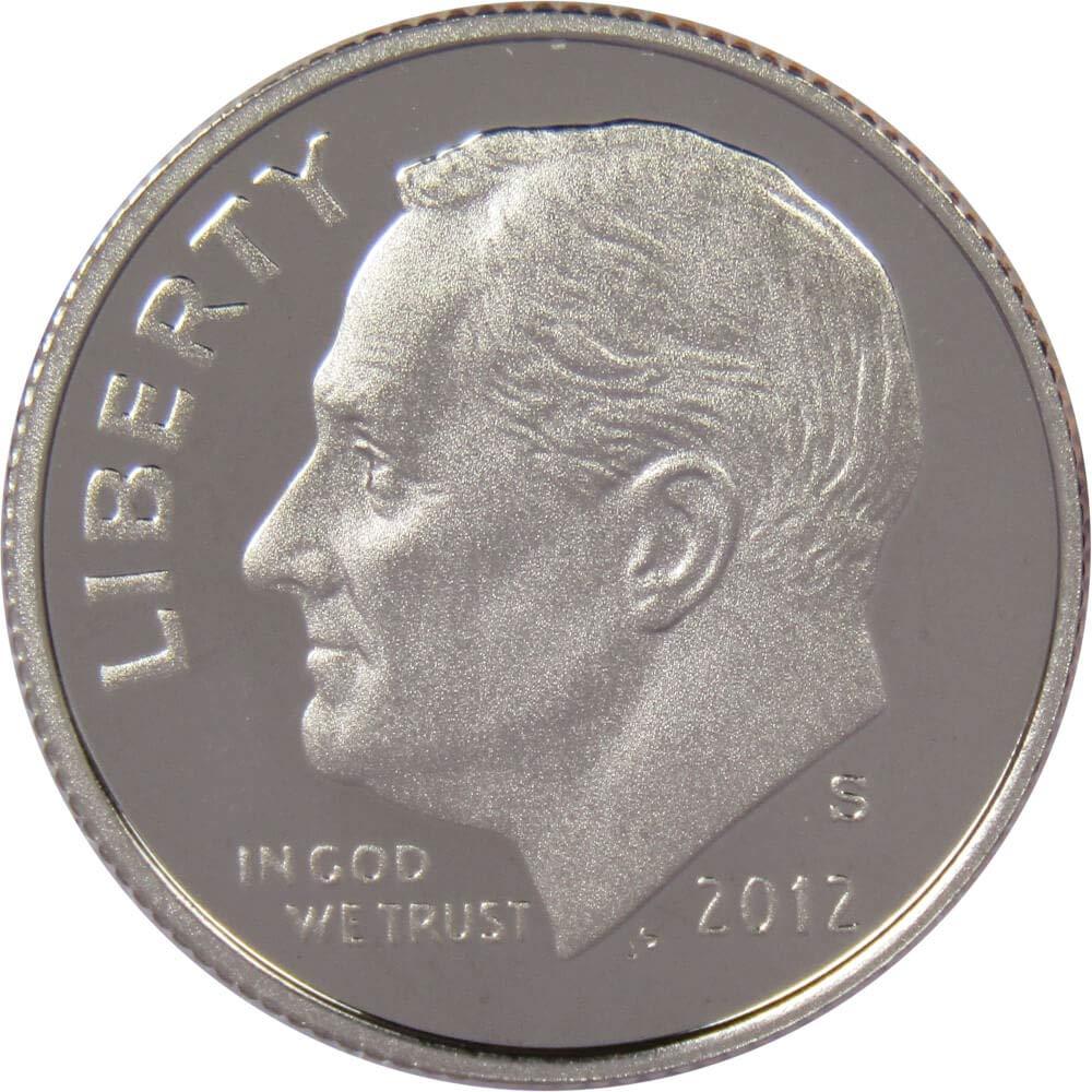 2012-S Silver Roosevelt Dime Deep Cameo Gem Proof