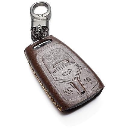 Amazon Com Vitodeco Genuine Leather Keyless Smart Key Fob Case