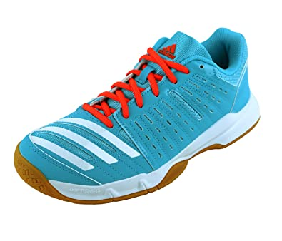 cheap for discount fb465 3f70f Adidas Essence Womens Indoor Court Shoes Bright Cyan Blue ...