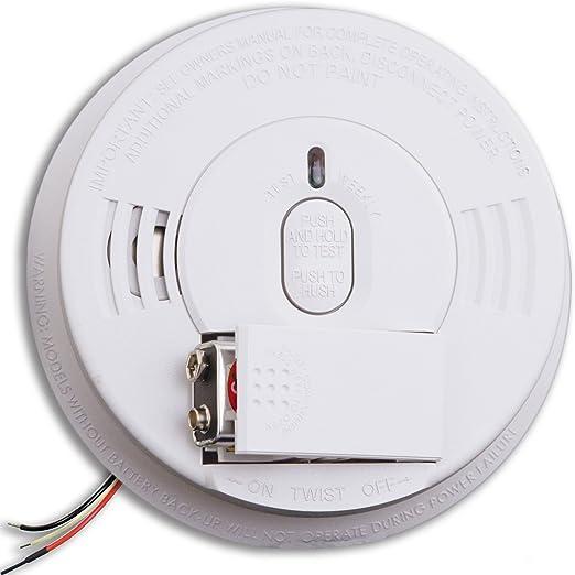 Ionization Sensor Kidde Hardwire Smoke Detector w//9V Battery Backup w//Adapters