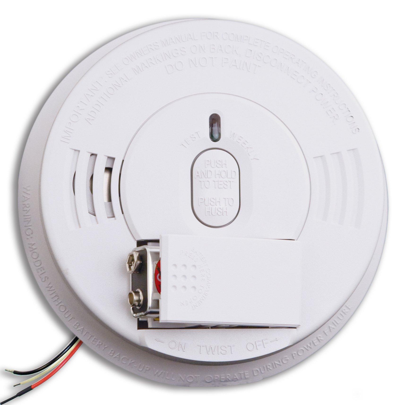 Kidde i12060 Hardwire with Front Load Battery Backup Smoke Alarm, 1 Pack, White by Kidde
