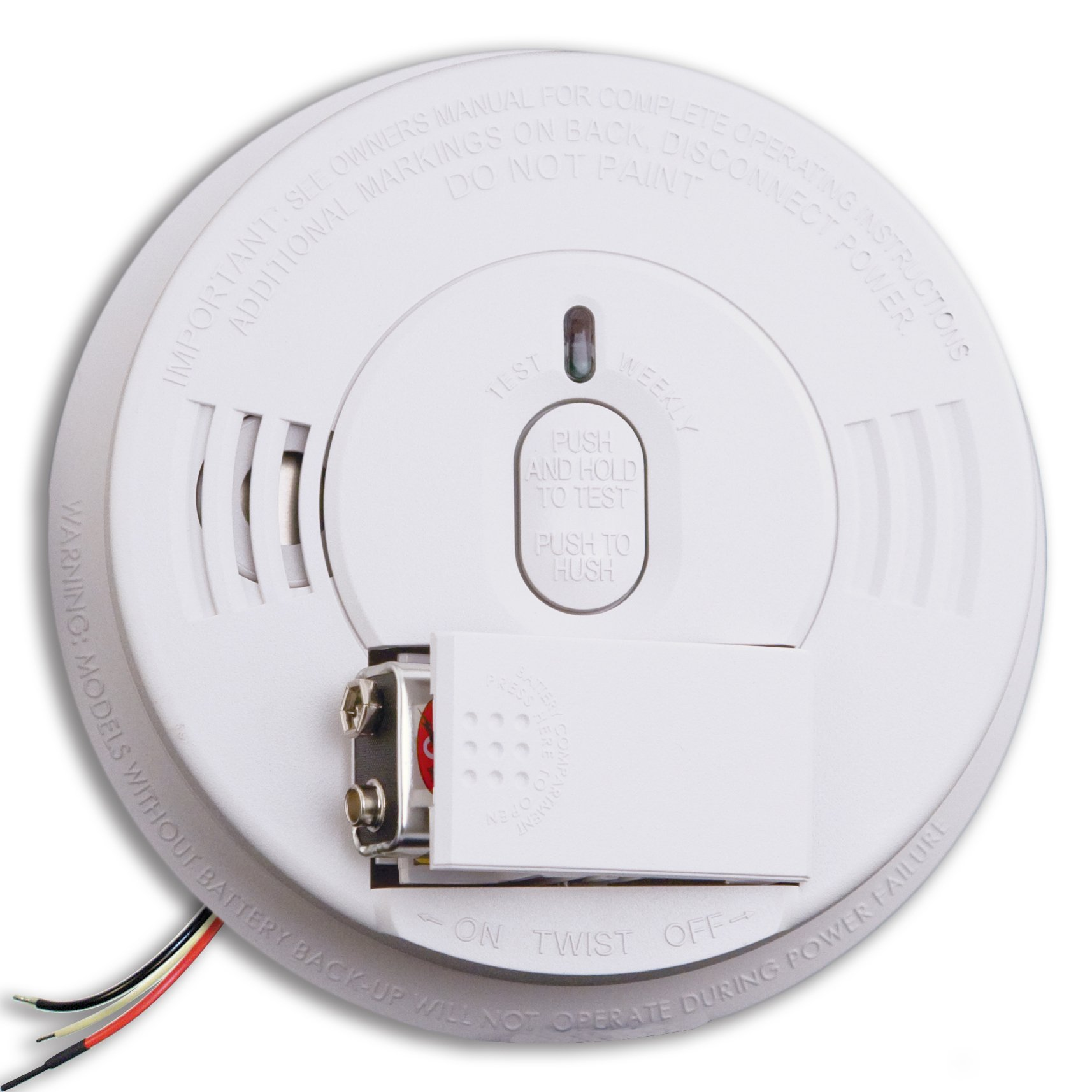 Kidde i12060 Hardwired Smoke Alarm with Front Load Battery Backup Smoke Alarm