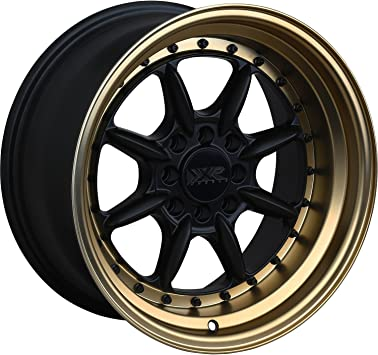 16 x 8. inches //4 x 100 mm, 20 mm Offset XXR 002 Black//ML Wheel with Painted