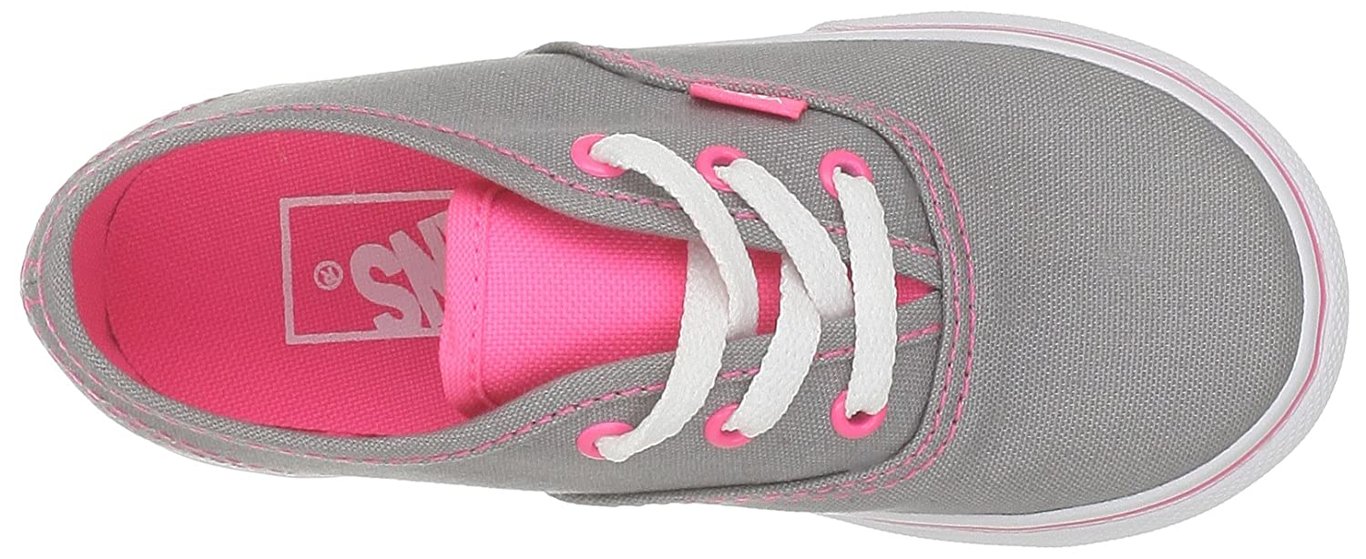 Amazon.com | Vans Girls Authentic, (Neon Pop) Frost Grey/Pink-8.5 Toddler | Skateboarding