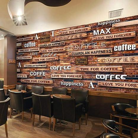Amazon.com: YJFBH 3D Wallpaper Vintage Coffee Wood Grain ...