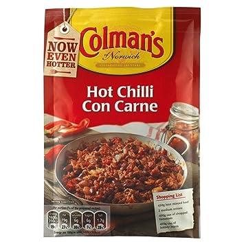 Colmans Caliente La Mezcla De Salsa De Chili Con Carne ...