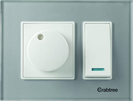 Crabtree ACMPGCSV03 Murano3 Module Glass Cover Plate (Silky Silver) Wall Plates at amazon