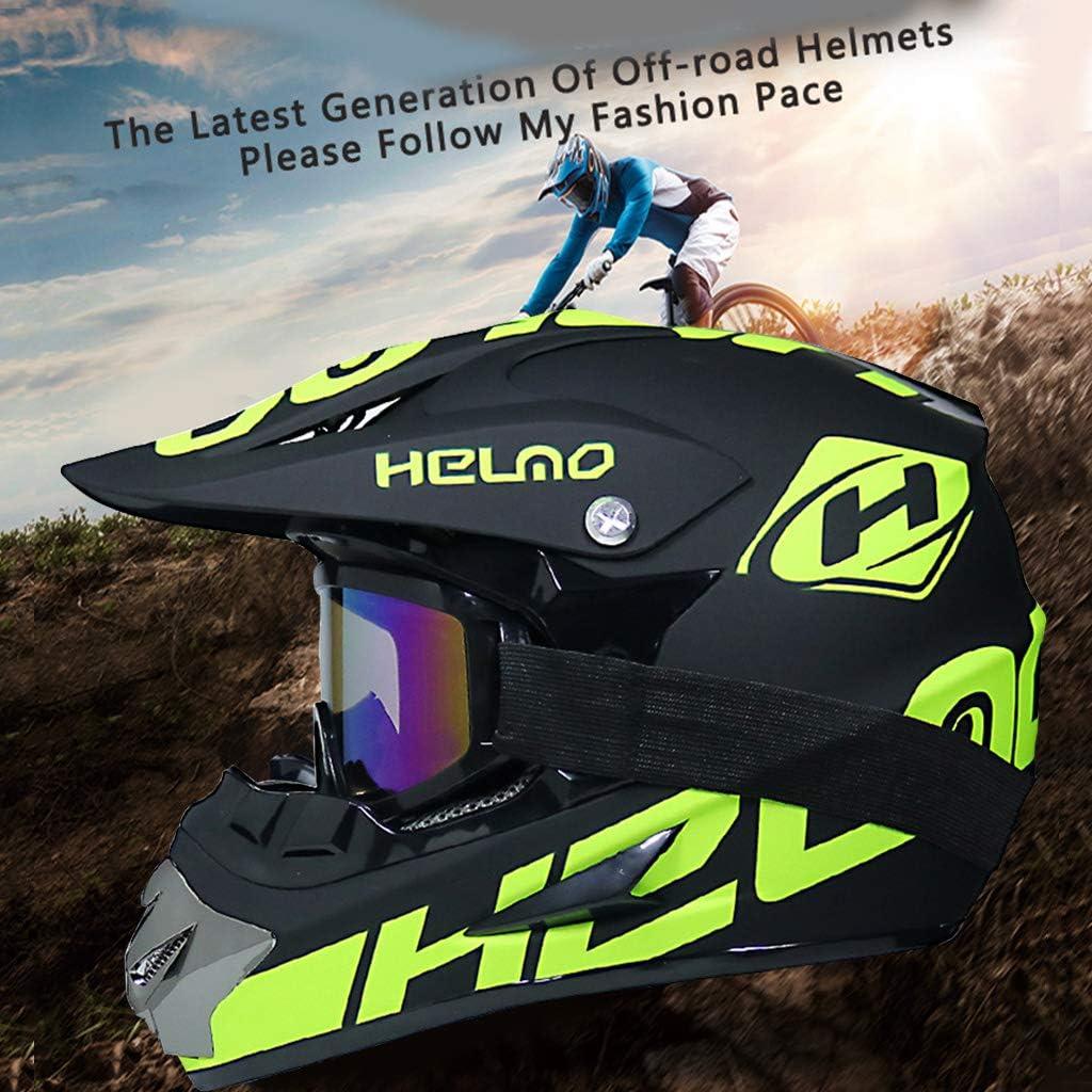 goodluccoy Motorrad Offroad Helm Dirt Bike Helm MTB Downhill Integral Helm