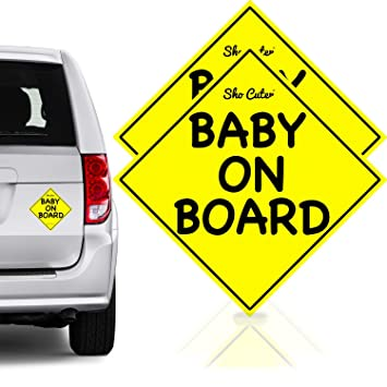 safest baby on board car magnet stickers signs unobstructed view reflective reuseable