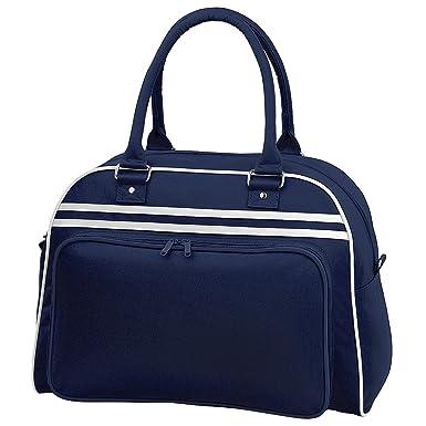 5679f5c40ce469 Bagbase Retro Bowling Tasche (23 Liter) One Size,Dunkelblau/Weiß