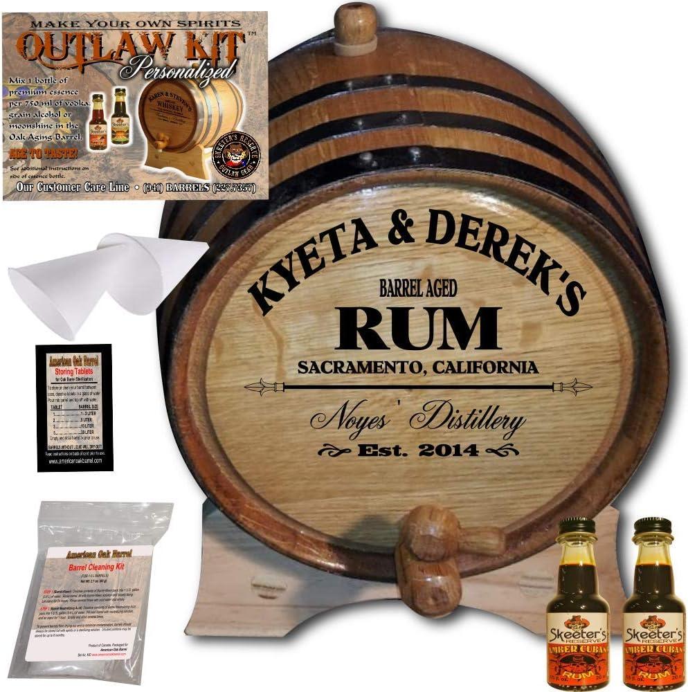 Personalizado Outlaw Kit (ámbar) de Ron Cuba diseño de barril de roble americano – 060: barril de ron