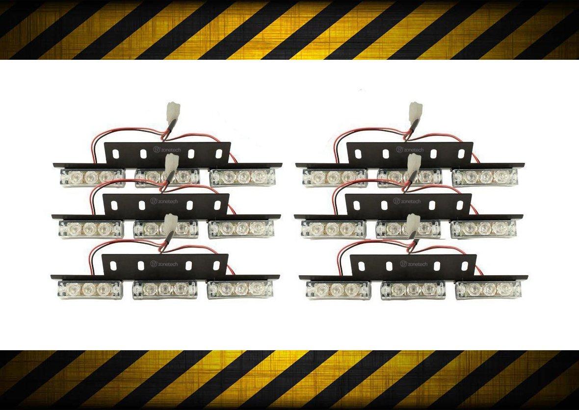 Zone Tech Bright Blue 54x LED Emergency Service Vehicle Deck Grill Warning Light 1 set