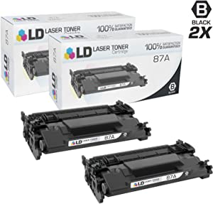 LD Compatible Toner Cartridge Replacement for HP 87A CF287A (Black, 2-Pack)