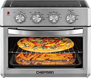 Chefman Toaster Oven, 6 Slice, 25 Liter Convection Air fryer