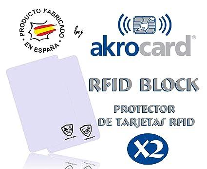Protector de Tarjetas - RFID BLOCK by AKROCARD - ANTIRROBO - sencillo y discreto. IDEAL PARA REGALAR (2)