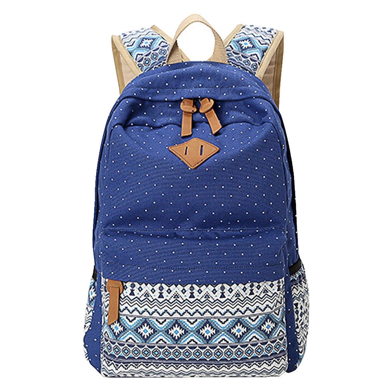 MingTai Backpack Mochilas Escolares Mujer Mochila Escolar Lona Grande Bolsa Estilo Étnico