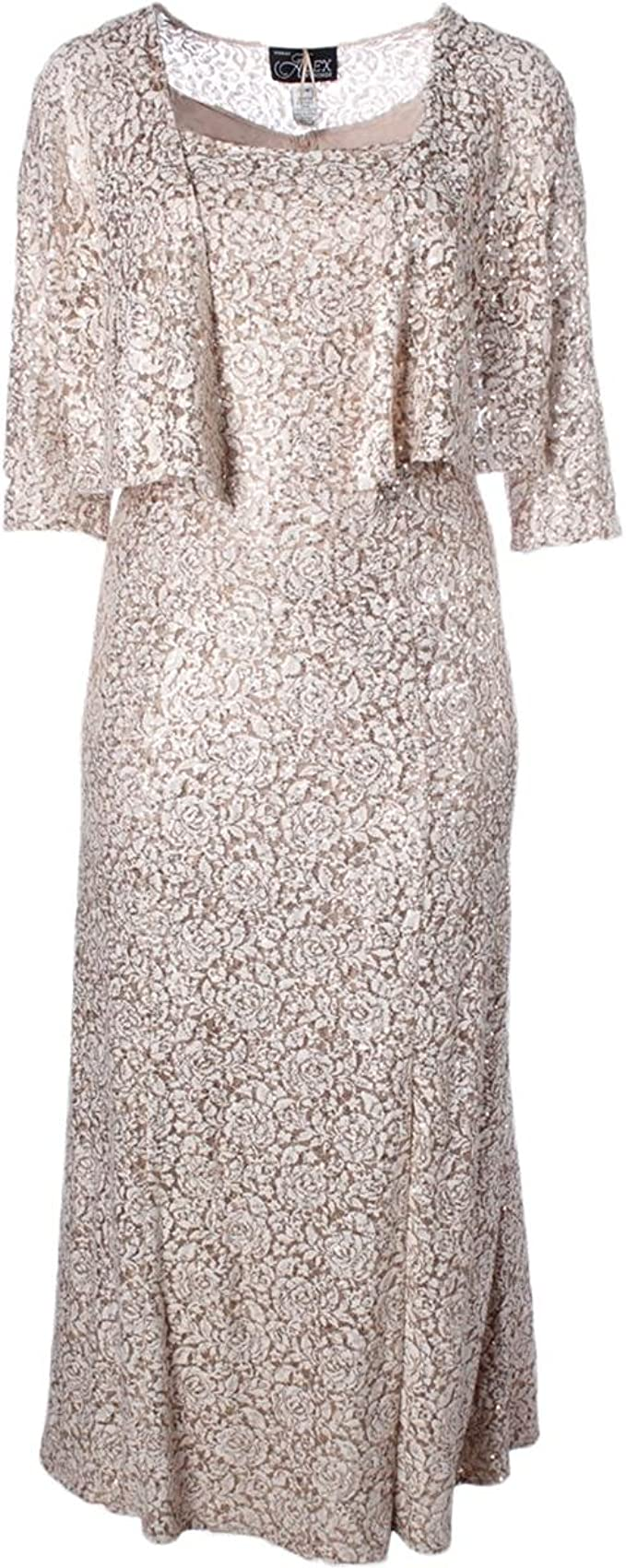 Alex Evenings Women S Plus Size Long Printed A Line Dress With 3 4 Sleeve Ivory 18w At Amazon Women S Clothing Store,Wedding Guest Plus Size Evening Dresses South Africa