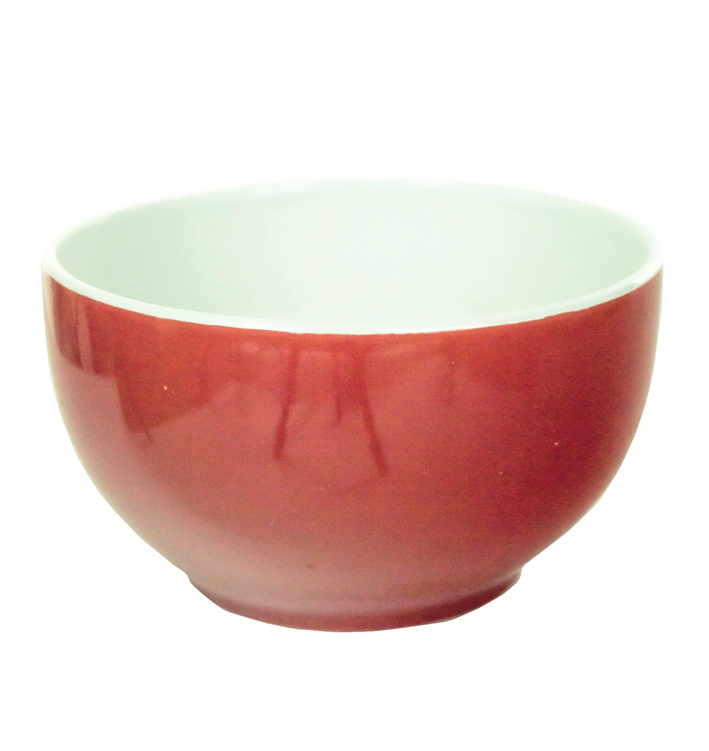 Coloured Ceramic 13cm Side Salad Cereal Soup Bowl in Choice of Colours (Red) Lifetime