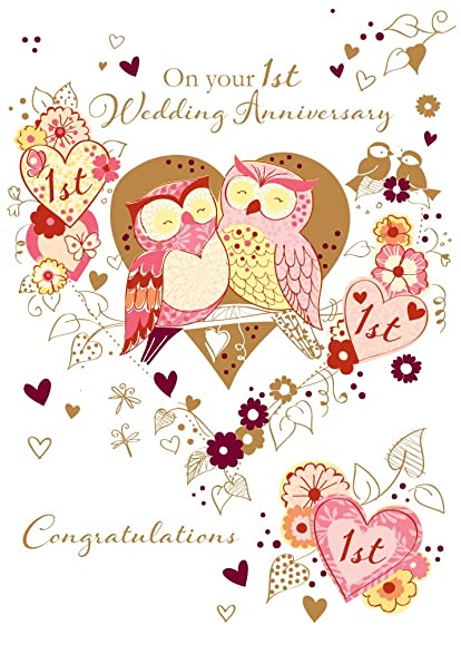 Amazon talking pictures on your 1st wedding anniversary talking pictures on your 1st wedding anniversary greeting card by handmade cards m4hsunfo