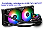 DEEPCOOL Captain 240PRO Addressable RGB AIO CPU Liquid Cooler, Cable Controller and 5V ADD RGB 3-Pin Motherboard Control...