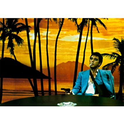 Scarface - Sunset Postcard