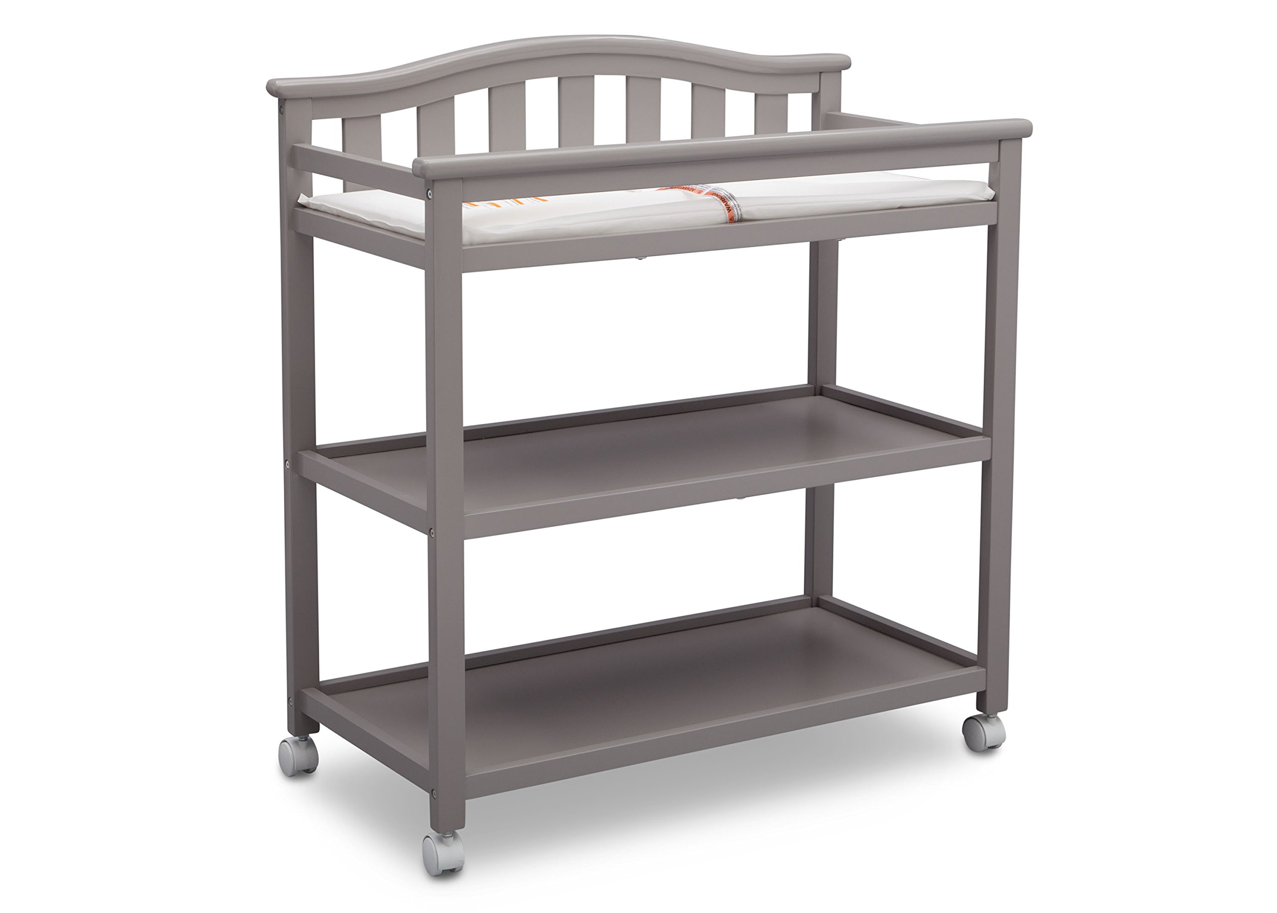 Delta Children Bell Top Changing Table with Casters, Grey