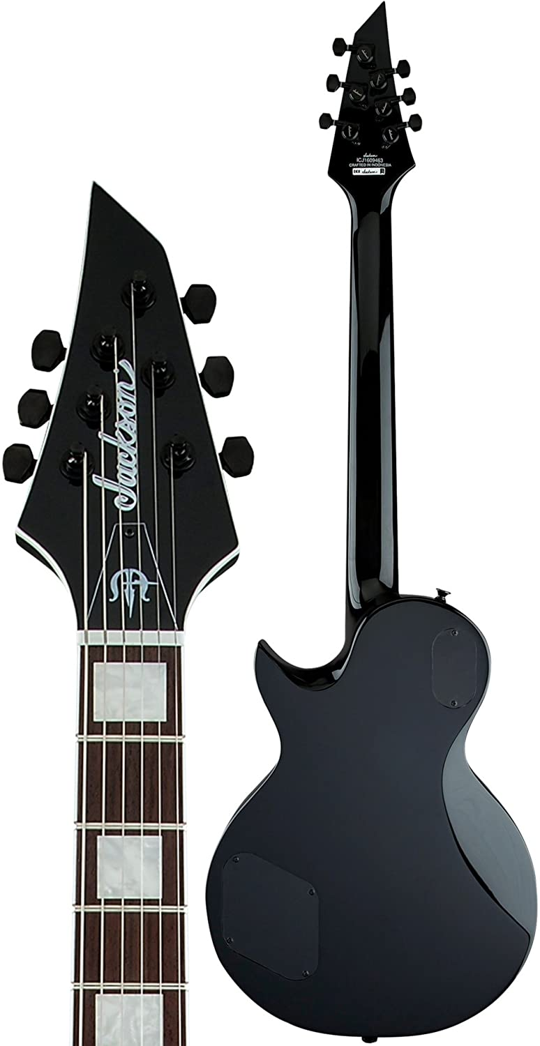 Amazon.com: Jackson X Series Signature Marty Friedman Electric Guitar Black With White Bevel: Musical Instruments