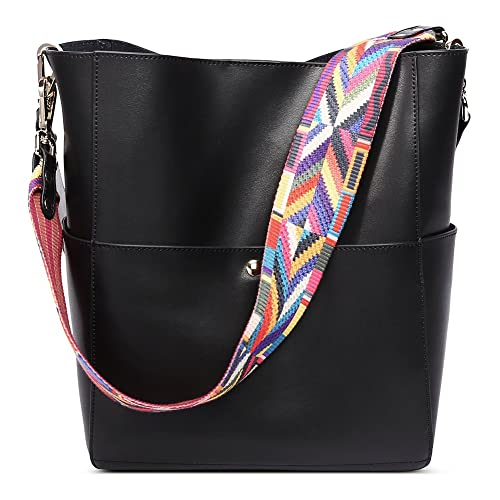 2bb5cb8ba Amazon.com: CALLAGHAN Handbags Women Genuine Leather Tote Purse Designer  Bucket Shoulder Bags for Ladies (Black): Shoes