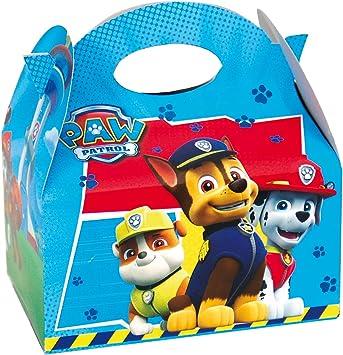 PAW PATROL 0655, Pack 4 cajitas de Carton para chuches Patrulla ...