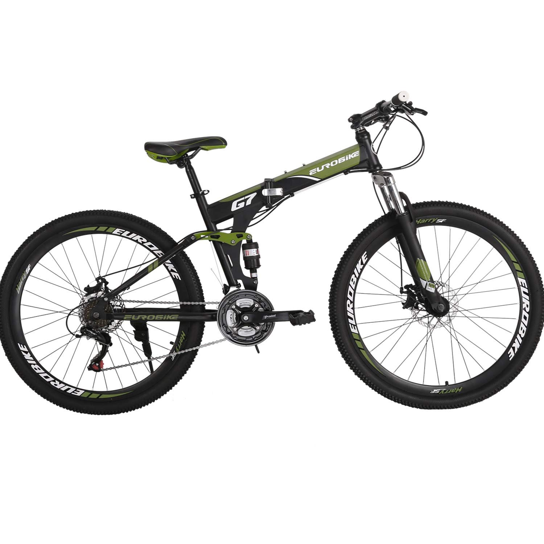 Eurobike Bicicleta de montaña Plegable 21 velocidades con ...