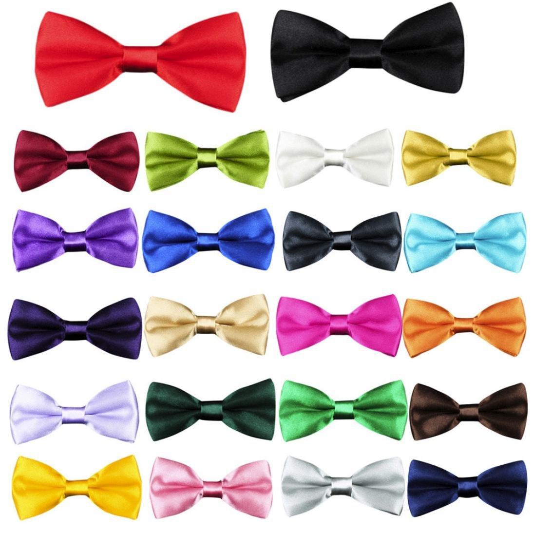 TATGB New School Boys Children Baby Bow Wedding Solid Colour Tie Necktie 22PC