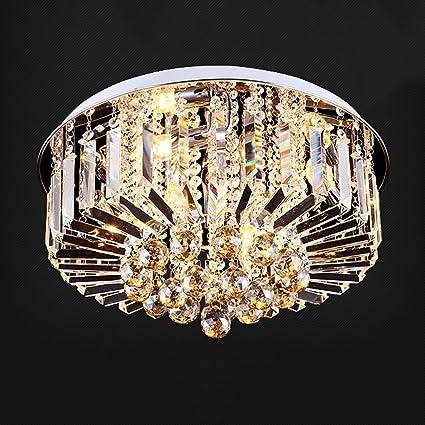 MOMO Deckenleuchte Europäische Luxus Kristall Deckenleuchte Runde Kristall  Lampe Wohnzimmer Lampe Schlafzimmer Restaurant Führte Kristall Deckenleuchte