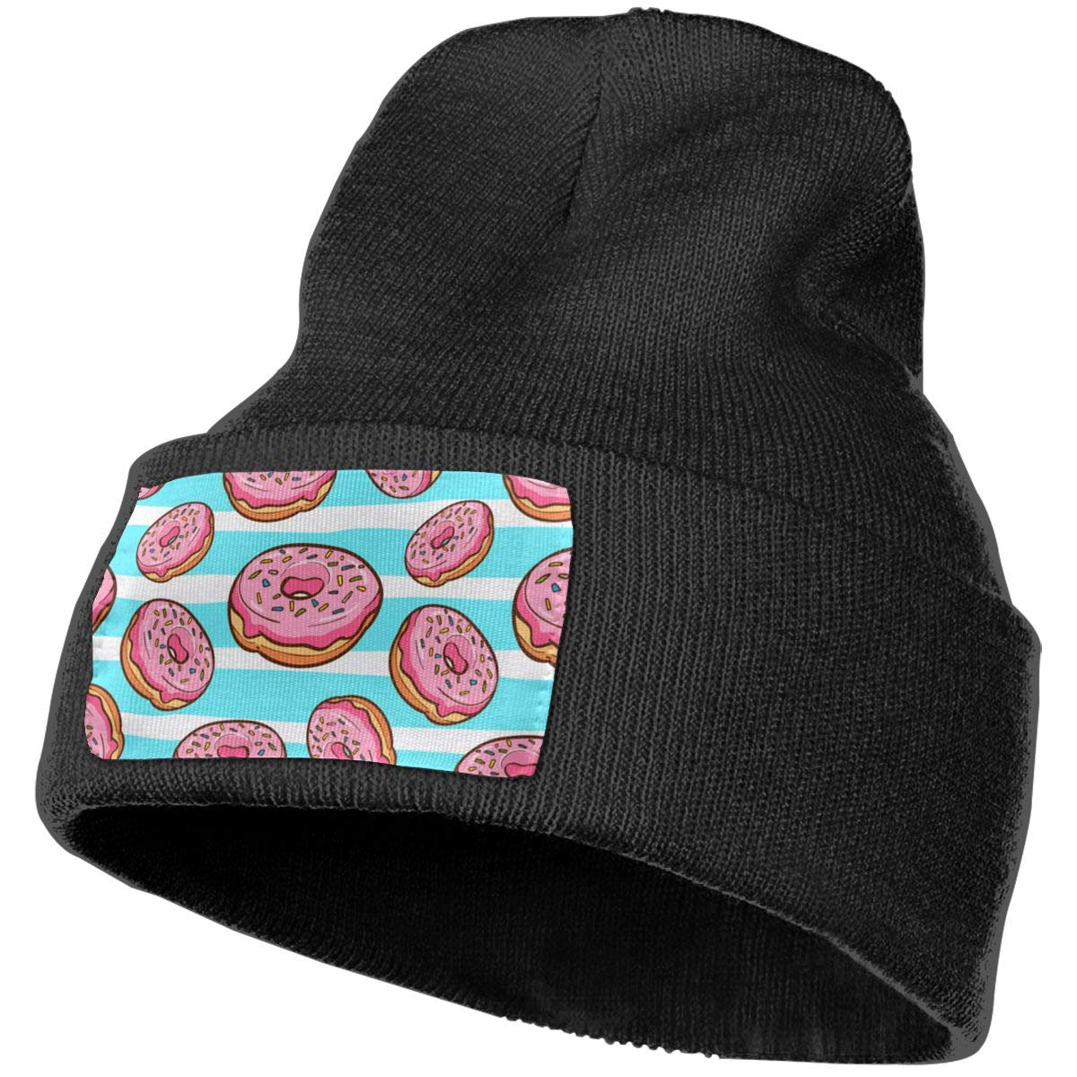 ONHIM Donuts Men /& Women Stretchy Kintted Beanie Hat Slouchy Ski Hats