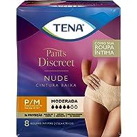Calcinha Descartável Tena Pants Discreet Nude P/M 8 Unidades, Tena