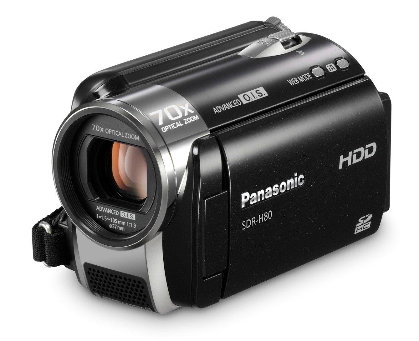 amazon com panasonic sdr h80 sd and hdd camcorder black hard rh amazon com