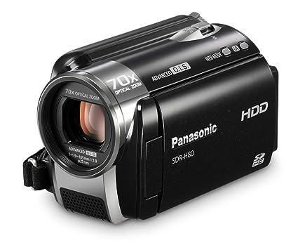 amazon com panasonic sdr h80 sd and hdd camcorder black hard rh amazon com Panasonic SDR- H85 Panasonic SDR- S7