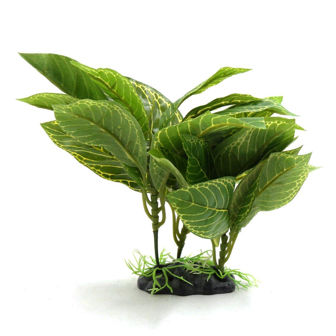 uxcell Green Plastic Terrarium Lifelike Plant Decor Ornament for Reptiles and Amphibians a17062800ux0839