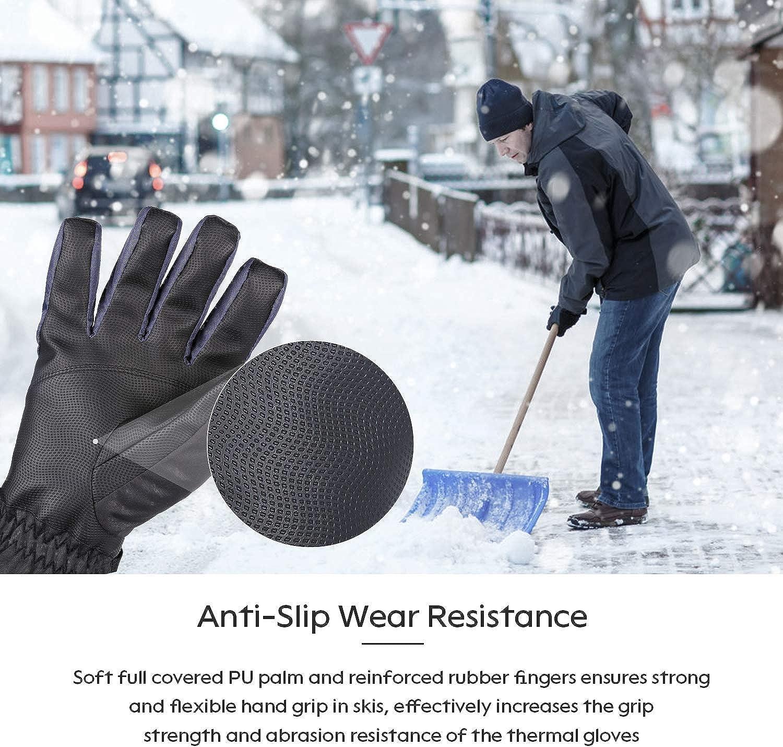 BRIGENIUS Ski Gloves Waterproof Winter Gloves for Men Women