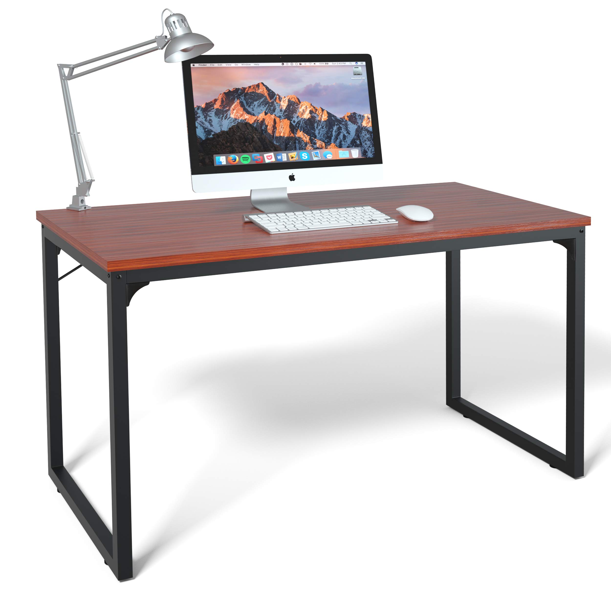 Computer Desk 47'', Modern Simple Style Desk for Home Office, Sturdy Writing Desk, Coleshome, Teak by Coleshome (Image #6)