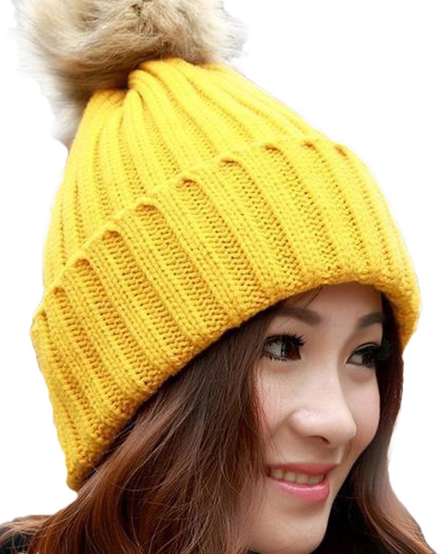 Freedi Women Beret Beanie Crochet Knitted Hat Cap