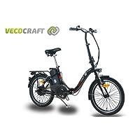 VecoCraft Nemesis, Elektrofahrrad, Klapprad, E-Faltrad, Ebike, 36V 250W, 20 Zoll, Farbe: Schwarz