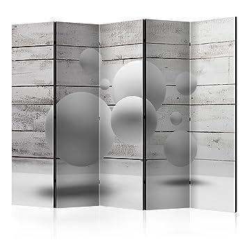 Decomonkey Raumteiler Paravent Beidseitig Xxl 3d Effect Holz 225x172