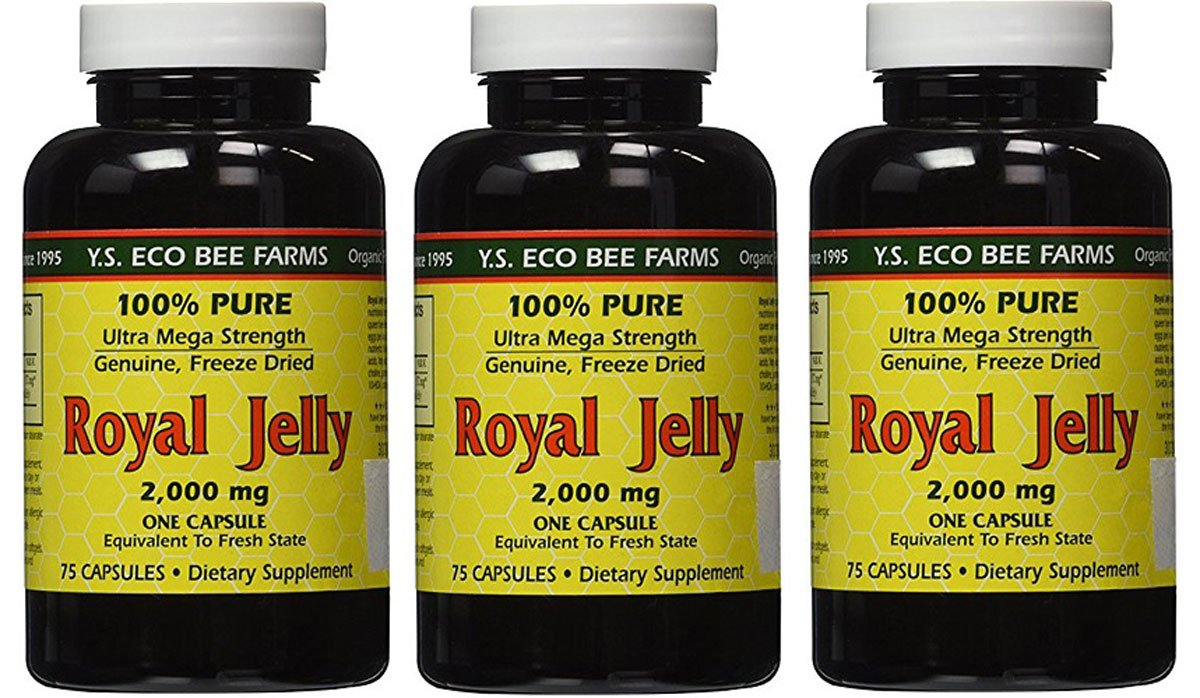 YS Eco Bee Farms Royal Jelly 2,000 mg - 75 capsules (Pack of 3) by YS Eco Bee Farms (Image #1)